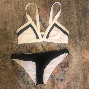Reversible Black and White Ripcurl Bathing Suit